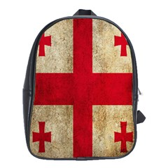 Georgia Flag Mud Texture Pattern Symbol Surface School Bags(large)