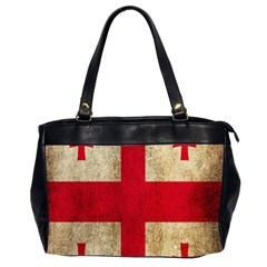 Georgia Flag Mud Texture Pattern Symbol Surface Office Handbags (2 Sides)