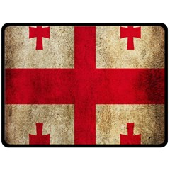 Georgia Flag Mud Texture Pattern Symbol Surface Fleece Blanket (large)