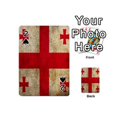 Georgia Flag Mud Texture Pattern Symbol Surface Playing Cards 54 (Mini)