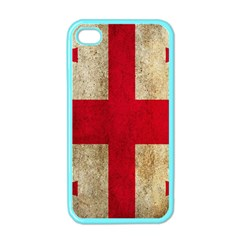 Georgia Flag Mud Texture Pattern Symbol Surface Apple iPhone 4 Case (Color)
