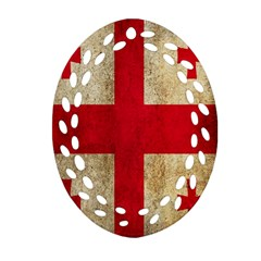 Georgia Flag Mud Texture Pattern Symbol Surface Ornament (Oval Filigree)