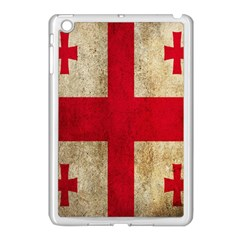 Georgia Flag Mud Texture Pattern Symbol Surface Apple iPad Mini Case (White)