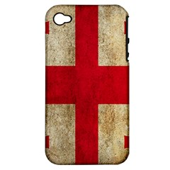 Georgia Flag Mud Texture Pattern Symbol Surface Apple iPhone 4/4S Hardshell Case (PC+Silicone)