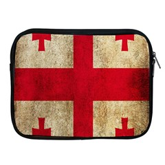 Georgia Flag Mud Texture Pattern Symbol Surface Apple iPad 2/3/4 Zipper Cases
