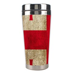 Georgia Flag Mud Texture Pattern Symbol Surface Stainless Steel Travel Tumblers