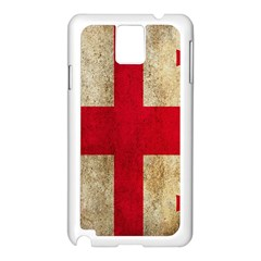 Georgia Flag Mud Texture Pattern Symbol Surface Samsung Galaxy Note 3 N9005 Case (White)