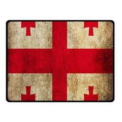 Georgia Flag Mud Texture Pattern Symbol Surface Double Sided Fleece Blanket (Small)
