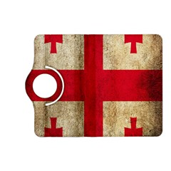 Georgia Flag Mud Texture Pattern Symbol Surface Kindle Fire HD (2013) Flip 360 Case