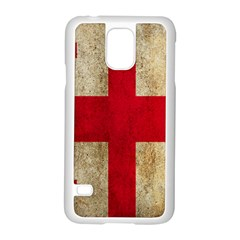 Georgia Flag Mud Texture Pattern Symbol Surface Samsung Galaxy S5 Case (White)