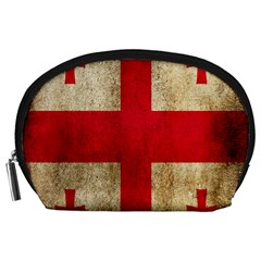 Georgia Flag Mud Texture Pattern Symbol Surface Accessory Pouches (Large)