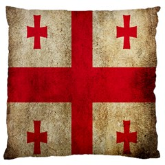 Georgia Flag Mud Texture Pattern Symbol Surface Large Flano Cushion Case (One Side)