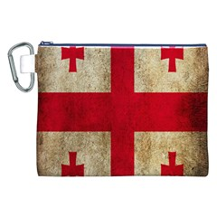 Georgia Flag Mud Texture Pattern Symbol Surface Canvas Cosmetic Bag (XXL)
