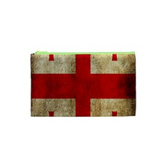 Georgia Flag Mud Texture Pattern Symbol Surface Cosmetic Bag (XS)