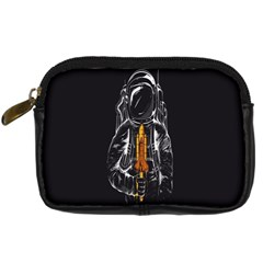 Humor Rocket Ice Cream Funny Astronauts Minimalistic Black Background Digital Camera Cases
