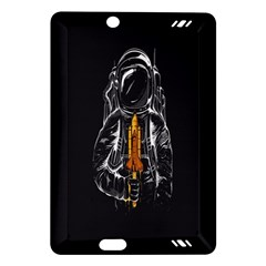 Humor Rocket Ice Cream Funny Astronauts Minimalistic Black Background Amazon Kindle Fire HD (2013) Hardshell Case
