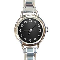 Leather Stitching Thread Perforation Perforated Leather Texture Round Italian Charm Watch