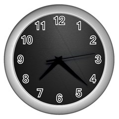 Leather Stitching Thread Perforation Perforated Leather Texture Wall Clocks (Silver)