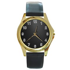 Leather Stitching Thread Perforation Perforated Leather Texture Round Gold Metal Watch