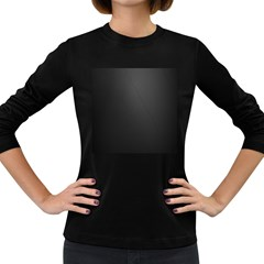 Leather Stitching Thread Perforation Perforated Leather Texture Women s Long Sleeve Dark T Shirts