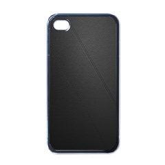 Leather Stitching Thread Perforation Perforated Leather Texture Apple iPhone 4 Case (Black)