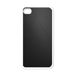 Leather Stitching Thread Perforation Perforated Leather Texture Apple iPhone 4 Case (White)