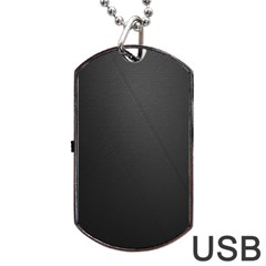 Leather Stitching Thread Perforation Perforated Leather Texture Dog Tag USB Flash (Two Sides)