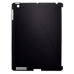 Leather Stitching Thread Perforation Perforated Leather Texture Apple iPad 3/4 Hardshell Case (Compatible with Smart Cover)
