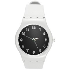 Leather Stitching Thread Perforation Perforated Leather Texture Round Plastic Sport Watch (M)