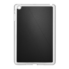 Leather Stitching Thread Perforation Perforated Leather Texture Apple iPad Mini Case (White)
