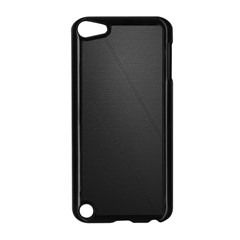 Leather Stitching Thread Perforation Perforated Leather Texture Apple iPod Touch 5 Case (Black)