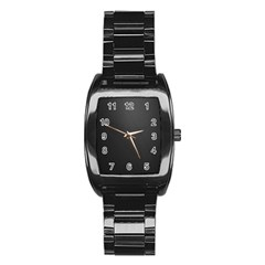 Leather Stitching Thread Perforation Perforated Leather Texture Stainless Steel Barrel Watch