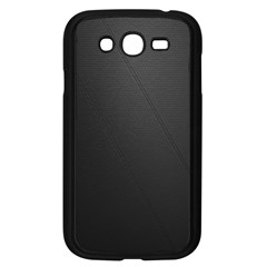 Leather Stitching Thread Perforation Perforated Leather Texture Samsung Galaxy Grand Duos I9082 Case (black)
