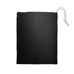 Leather Stitching Thread Perforation Perforated Leather Texture Drawstring Pouches (Large)