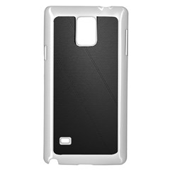 Leather Stitching Thread Perforation Perforated Leather Texture Samsung Galaxy Note 4 Case (White)