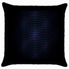 Hexagonal White Dark Mesh Throw Pillow Case (Black)