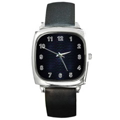 Hexagonal White Dark Mesh Square Metal Watch