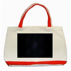 Hexagonal White Dark Mesh Classic Tote Bag (Red)