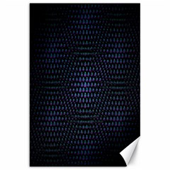 Hexagonal White Dark Mesh Canvas 20  x 30