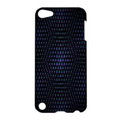 Hexagonal White Dark Mesh Apple Ipod Touch 5 Hardshell Case