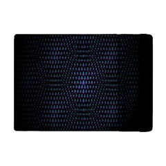 Hexagonal White Dark Mesh Apple Ipad Mini Flip Case