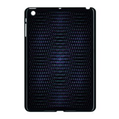 Hexagonal White Dark Mesh Apple iPad Mini Case (Black)