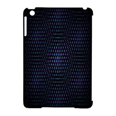 Hexagonal White Dark Mesh Apple iPad Mini Hardshell Case (Compatible with Smart Cover)
