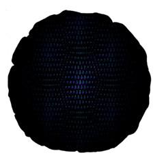 Hexagonal White Dark Mesh Large 18  Premium Round Cushions