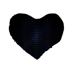 Hexagonal White Dark Mesh Standard 16  Premium Heart Shape Cushions