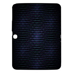 Hexagonal White Dark Mesh Samsung Galaxy Tab 3 (10.1 ) P5200 Hardshell Case