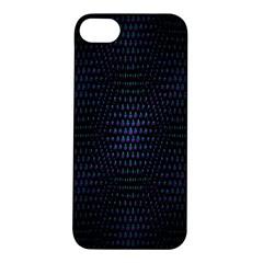 Hexagonal White Dark Mesh Apple iPhone 5S/ SE Hardshell Case