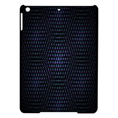 Hexagonal White Dark Mesh iPad Air Hardshell Cases