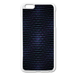 Hexagonal White Dark Mesh Apple Iphone 6 Plus/6s Plus Enamel White Case