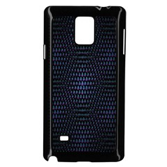 Hexagonal White Dark Mesh Samsung Galaxy Note 4 Case (Black)